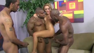 For Blonde Nympho Sometimes Two BBC Are Not Enought