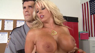 Busty Blonde Whore is Always Suspicious for Horny Police Officer