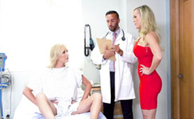 For Fake Patients a Hard Dick is The Only Medicine - Threesome Free Xxx Videos