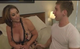 Stepmother is Experiencing Multiple Orgasms With Her Son