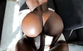 He Sticks His Big Cock in Her Wet Black Pussy - Amateur POV Sex