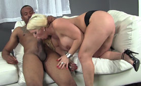 Curvy Blonde Finally finds the Right Cock for Herself
