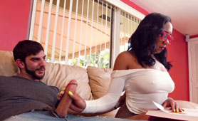 This Ebony is Super Hot When She Studying and Makes Her Brother So Horny