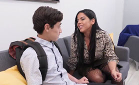 Hot Latina Milf Needs a Help From Confused Son's Friend