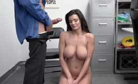 Disgraced Busty Milf Caught Stealing Lets Security Creampie