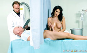 Naughty Nurse Helps the Patient Relax Before Surgery