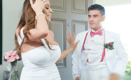 Latina Bride Cheating On After Wedding by Young Solid Cock