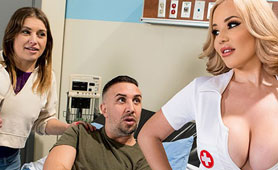 Super Sexy Blond Nurse Anyway will Fuck this Patient