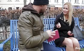 European Blonde Chick Hard Penetrated by Horny Stranger