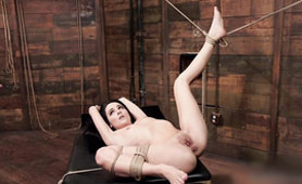 Darkhaired Babe Extremely Hard Fucking - BDSM 3some Porn