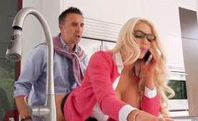 Blond Bombshell Cheats and Talks to her Husband