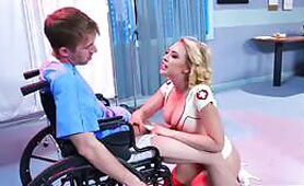She Wants to Raise his Morale...What a Nurse!!